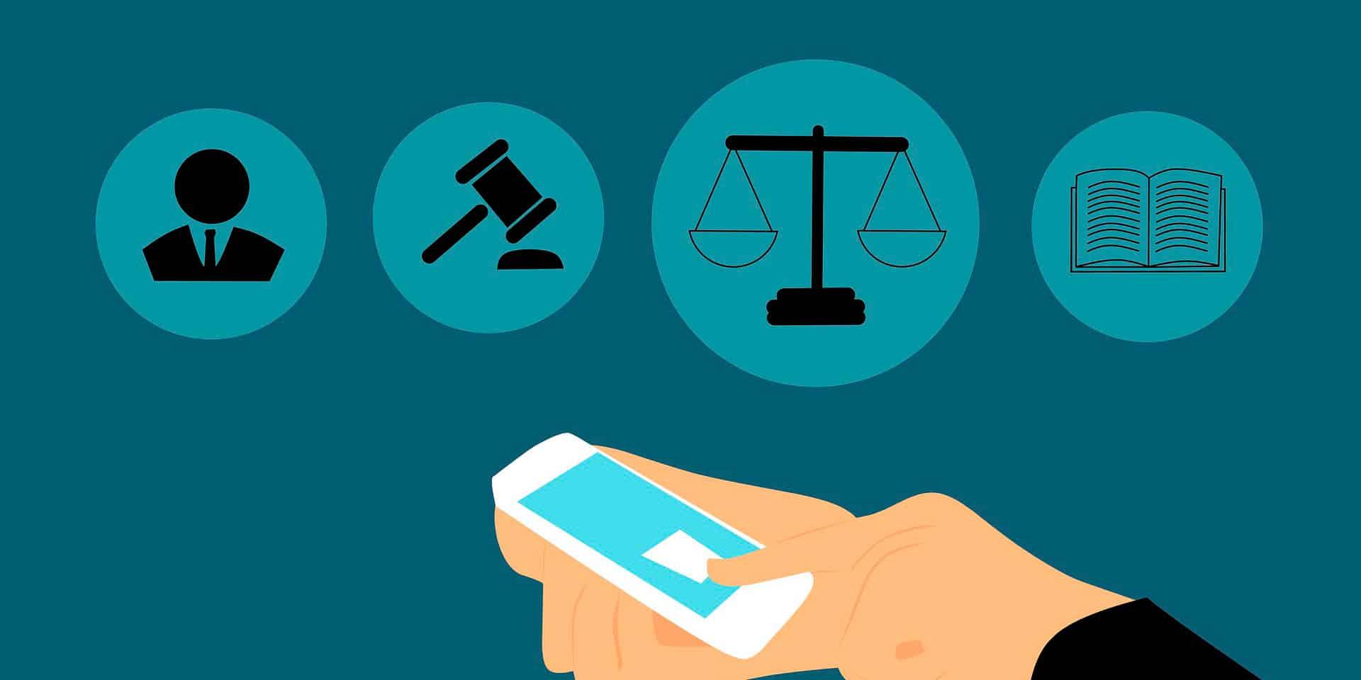 derecho en línea